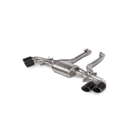 Akrapovic Titanium Exhaust with Carbon Fiber Tips for BMW F95 X5M | F96 X6M incl. Competition (P/N: S-BM/T/16H)