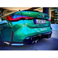 Akrapovic Rear Carbon Fiber Diffuser for BMW G80 M3 | G82 M4 incl. Competition - High Gloss (P/N: DI-BM/CA/9/G)