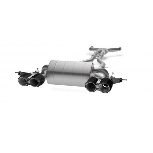 Akrapovic Titanium Exhaust with Black Carbon Fiber Tips for BMW G80 M3 | G82 M4 incl. Competition (P/N: S-BM/T/21H-BC)