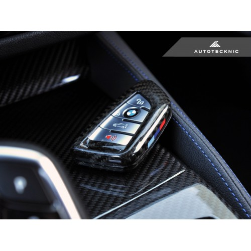 AutoTecknic Dry Carbon Key Case for BMW Triangle KeyFob (P/N: BM-0002)
