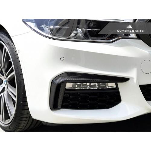 AutoTecknic Dry Carbon Front Bumper Trim BMW G30 M550iX Style for All G30 5-Series M-Sport (P/N: BM-0089)