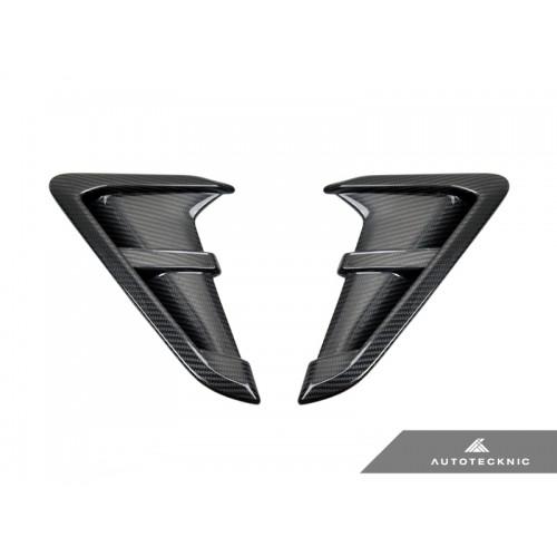 AutoTecknic Replacement Dry Carbon Fiber Fender Trims - BMW F97 X3M   F98 X4M incl. Competition (P/N: BM-0093-CF)