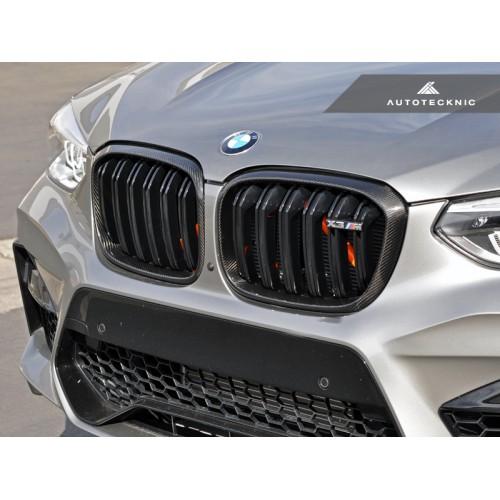 AutoTecknic Replacement Dry Carbon Fiber Grille Surrounds - BMW F97 X3M | F98 X4M (P/N: BM-0118-CF)