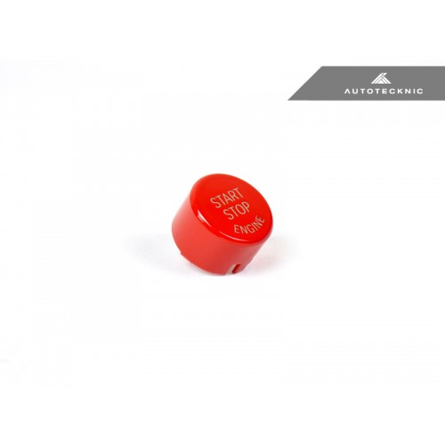 AutoTecknic Bright Red Start Stop Button - G30 5-series | G32 6-series | G11/G12 7-series | G01/G02 X3/X4 (P/N: BM-0126-RD)