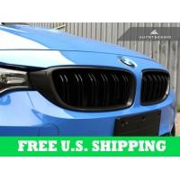 BMW Replacement Carbon Fiber Front Grilles For F32 4 Series F80 M3 F82 M4 (P/N: BM-0175-DS-CF)