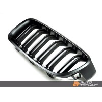 Autotecknic BMW Replacement ABS Matte Black Front Grilles F80/F82 M3/M4 Kidney Grill Style for F30 Series (P/N: BM-0179-DS)