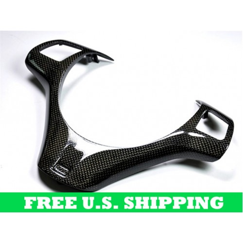 Autotecknic BMW Carbon Fiber Steering Wheel Trim E90 E92 E93 M3 1M Coupe (P/N: BM-0188)