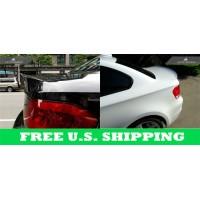 Autotecknic BMW FRP Unpainted / Carbon Fiber Trunk Spoiler E82 1 Series Coupe 2008-2012 (P/N: BM-0228)