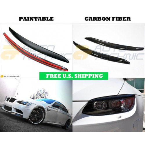 Autotecknic BMW Carbon Fiber Eyelids E92 3 series & M3 coupe E93 3 series & M3 convertible (P/N: BM-0236-ABS BM-0236-CF)