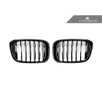 AutoTecknic Replacement Glazing Black Front Kidney Grills - G01/G02 X3/X4 (P/N: BM-0256)
