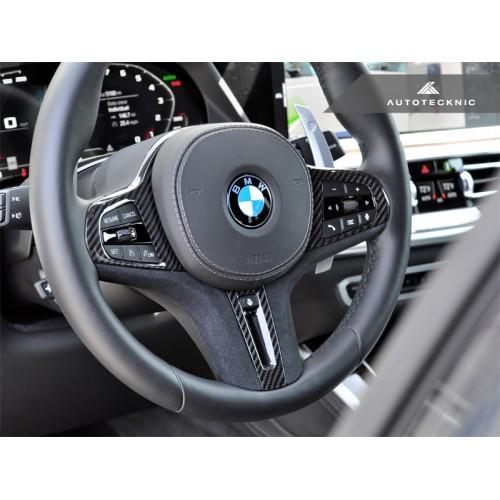 AutoTecknic Carbon Alcantara Steering Wheel Trim - F90 M5 | F91/F92/F93 M8 | F97/F98 X3M/X4M | F95/F96 X5M/X6M (P/N: BM-0282-LCI-S)