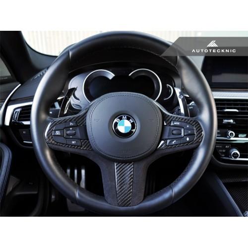 AutoTecknic Carbon Alcantara Steering Wheel Trim - G30 5-Series | G32 6-Series GT | G11/G12 7-Series | G01 X3 | G02 X4 (P/N: BM-0282)