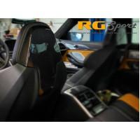 AutoTecknic Dry Carbon Fiber Seat Back Headrest Cover - BMW F91/F92/F93 M8 (P/N: BM-0373-M8)