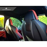 AutoTecknic Dry Carbon Fiber Seat Back Headrest Cover - BMW F97 X3M | F98 X4M w/ Sport Seat (P/N: BM-0373)