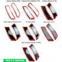 Autotecknic BMW F10 535i 550i 528i 5 Series F06/F12/F13 6 Series ABS Painted Reflectors 2011-up (P/N: BM-0996)