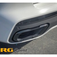 BMW OEM G07 X7 M Sport Exhaust Tip set in Shadowline (Gloss Black)