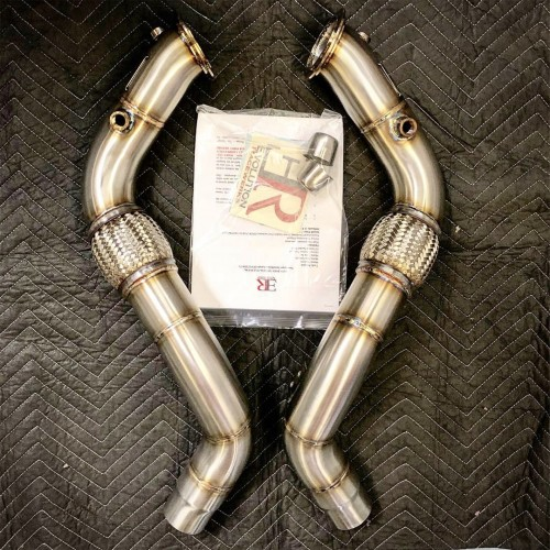 Evolution Racewerks 2017-UP BMW N63TU3 Engine Turbo Competition Series Catless Downpipe (BM-EXH020)