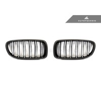 AutoTecknic Carbon Fiber Dual-Slats Front Grilles - F10 5-Series | M5