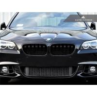 AutoTecknic Glazing Black Dual-Slats Front Grilles - F10 5-Series   M5