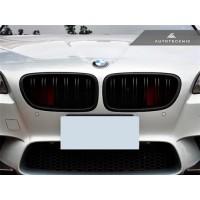 AutoTecknic Stealth Black Dual-Slats Front Grilles - F10 5-Series   M5