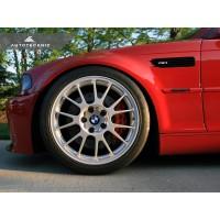 AutoTecknic Replacement Glazing Black Fender Gills - E46 Coupe & Cabrio | M3