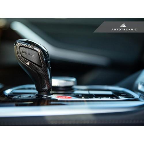AutoTecknic Carbon Fiber Gear Selector Side Trims - G1X 8-Series