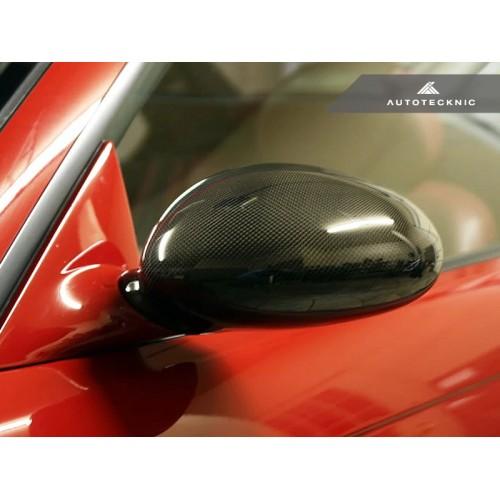 AutoTecknic Replacement Carbon Fiber Mirror Covers - BMW E46 M3