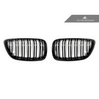 AutoTecknic Dual-Slats Glazing Black Front Grilles - F22 2-Series | F87 M2