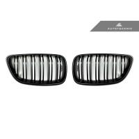 AutoTecknic Dual-Slats Stealth Black Front Grilles - F87 M2 | F22 2-Series