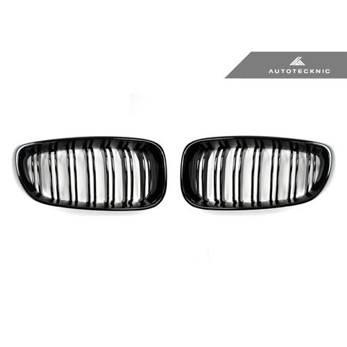 AutoTecknic Replacement Dual-Slats Glazing Black Front Grilles - F34 3-Series Gran Turismo
