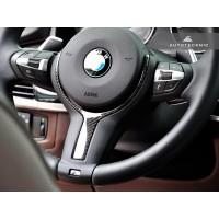 AutoTecknic Carbon Fiber M-Sport Steering Wheel Trim - F22 2-Series | F30 3-Series | F32 4-Series