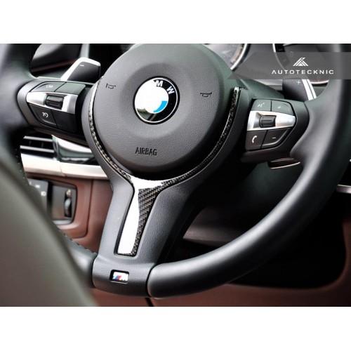 AutoTecknic Carbon Fiber M-Sport Steering Wheel Trim - F22 2-Series   F30 3-Series   F32 4-Series