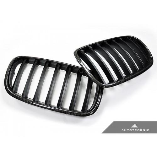 AutoTecknic Replacement Carbon Fiber Front Grilles - E70 X5 / X5M | E71 X6 / X6M