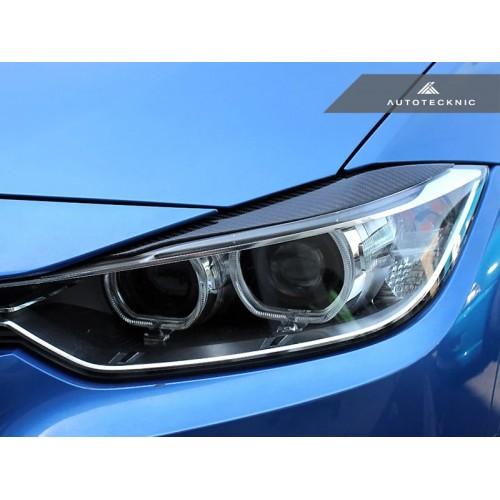 AutoTecknic Carbon Fiber Headlight Covers - F30 3 Series Sedan   F31 3 Series Wagon