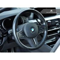 AutoTecknic Carbon Alcantara Steering Wheel Trim - F90 M5 2018-2019