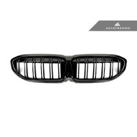 AutoTecknic Dual-Slats Glazing Black Front Grilles - G20 3-Series