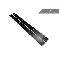 AutoTecknic Dry Carbon Downforce Wheel-Well Splitters - Universal