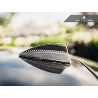 AutoTecknic Dry Carbon Roof Antenna Cover - E82 1-Series | E90 3-Series Sedan | E92 3-Series Coupe Including M3