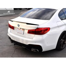 AutoTecknic Competition Extended-Kick Carbon Fiber Trunk Spoiler - G30 5-SERIES / F90 M5 (P/N: BM-0390)