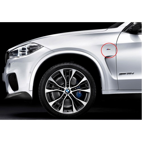 rg sport bmw f15 x5 f16 x6 m badge for side fenders. Black Bedroom Furniture Sets. Home Design Ideas